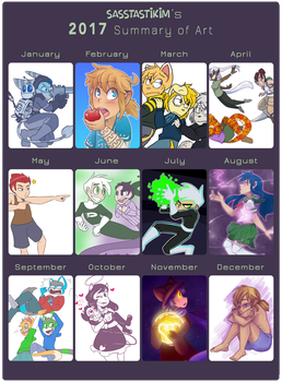 2017 Art Summary by Gell-pen