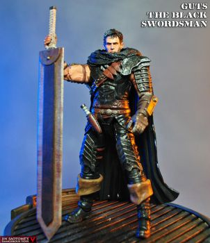 Custom Guts the Black Swordsman action figure by Jin-Saotome