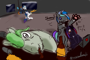 Typical day for the Brony Group by Amura-Of-Jupiter