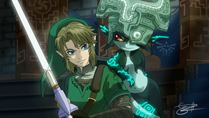 Link And Midna by Karilain