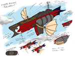 Pirate Airship Turnabout by the-gneech