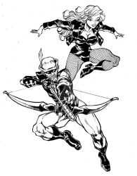 Green arrow and black canary commission