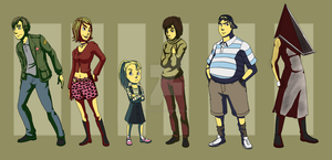 Character Lineup: Silent Hill2 by forte-girl7