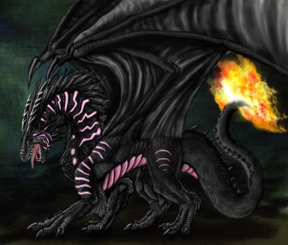 A Dragon with Fur by Ruth-Tay