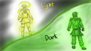 Ninjago Lightness and Darkness by greengigal