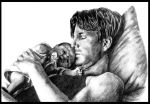 Lullaby Brian Kinney with Gus by ZhaoT
