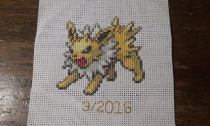Jolteon Cross Stitch by SasukePrismaColor