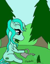 Evermint Watering A Tree by MrMeowpants
