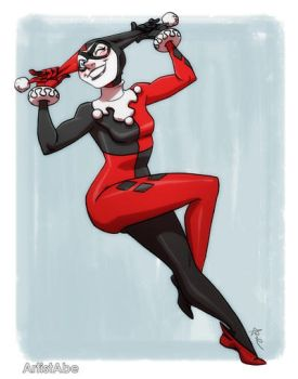 Harley Quinn Wink by ArtistAbe
