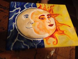 Moon and sun by KPRITCHETT14