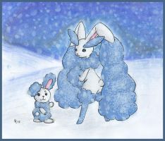 Arctic Buneary and Lopunny