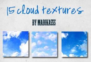 15 cloud textures by Madika555