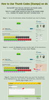 How to Use Thumb Codes + Stamps on dA by SweetDuke
