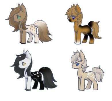 Pony Adopts (#4) 2/4  OPEN by FreyasAdoptables