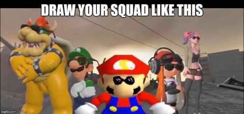 Draw your squad SMG4 by MixelFanGirl100