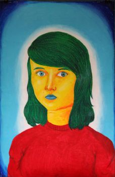 Myself in Oil Pastels (Dec 2012-February 2013) by lollipop-socks
