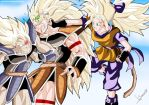 Turles, Raditz and the OC mewzakuro0608 by Sersiso