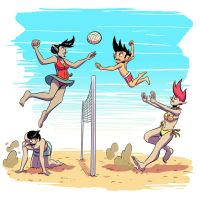 Couples Volleyball by Josh-Ulrich