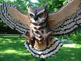Great Horned Owl (Detail) by RamageArt