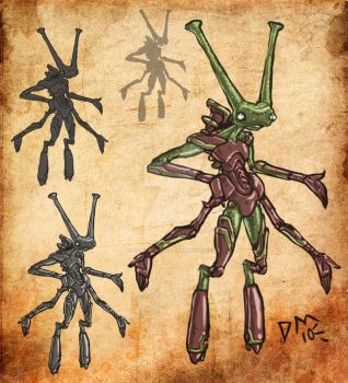 Insectoid Alien Concept by dark-maggot