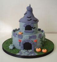 Haunted Fairy castle cake by Dragonsanddaffodils