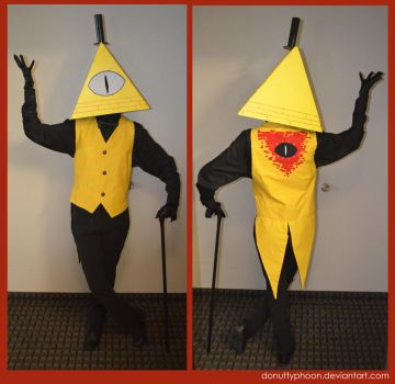 My Bill Cipher Cosplay by DonutTyphoon