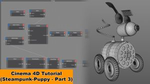 Steampunk Puppy - Part 3 (Cinema 4D - Tutorial) by NIKOMEDIA