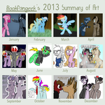 Art Summary 2013 by bookfangeek