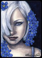 ACEO -- Forget-Me-Not by ElvenstarArt