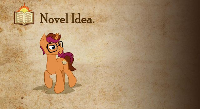 Novel Idea - Parchment Background (Offset) by MLP-NovelIdea