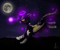 Cat of the stars by Luxyna-Moon