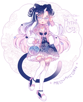 [CLOSED] ADOPT AUCTION - Meownicorn by MiiaChuu