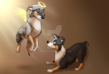 All Dogs Go to Heaven by Brontonia