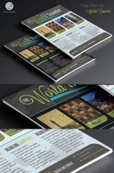 Free Print Ad Template PSD - World Traveler by CursiveQ-Designs