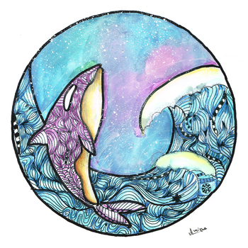 Zentangle-balaine-whale-by-Amina-Ben by AnisZGoubi