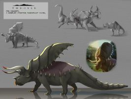 The isle fan concept - Dontoceratops by Taziii