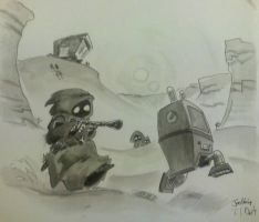 Droid Huntin' by Mr-DNA
