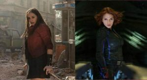 Black Widow and Scarlet Witch: The Ample Avengers by montyisfat