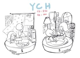 CLOSED |  ROOM YCH AUCTION ( AB added! ) by ReversedClock