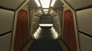 Stage9 Transporter Rooms Corridor by Phaeton99