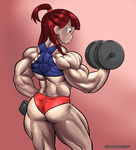 Akko working out by NeroScottKennedy