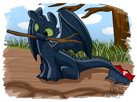 Toothless Da Vinci by trujayy