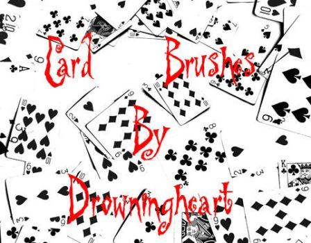 card brushes by drowningheart-stock