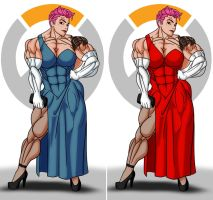 Zarya Dress - Blue of Red ? by rssam000