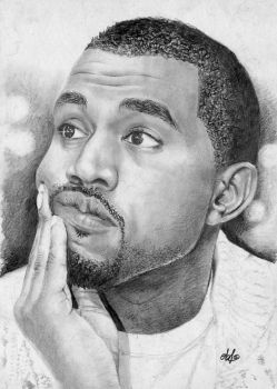 Kanye West portrait HQ by th3blackhalo