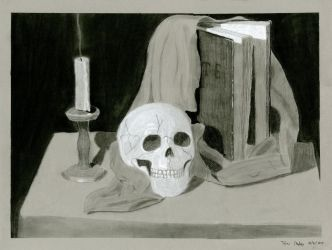 Drawing Assignment: Black and White Charcoal by AnimeVeteran