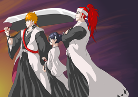 Bleach - 100 years, 3 Captains by Phi-9009