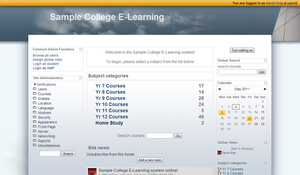 College Moodle Theme by Grayda