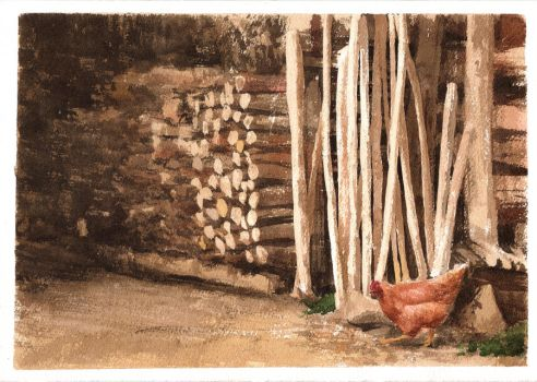 Wood Stack Study 01 by purpleorb