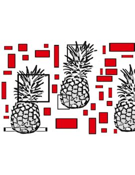 tiles with my pinapples. by c-roy